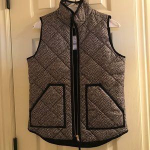 XXS J Crew Herringbone Vest